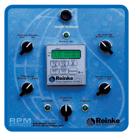 Reinke's RPM Advanced control panel equipped with a digital PAC III timer
