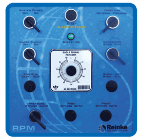 Reinke's RPM Standard control panel equipped with all the features needed for today's grower